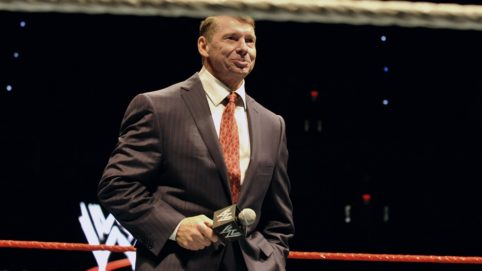Vince McMahon, husband of Republican U.S. Senate candidate Linda McMahon, speaks to an audience during a WWE fan appreciation event in Hartford, Conn., Saturday, Oct. 30, 2010. Former World Wrestling Entertainment CEO McMahon is battling Richard Blumenthal, the Connecticut  Attorney General, for the senate seat being vacated by the retiring Sen. Chris Dodd.  (AP Photo/Jessica Hill)